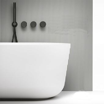 Falper Acquifero Смеситель для ванны, 4 отв., настенный, цвет: черный матовый