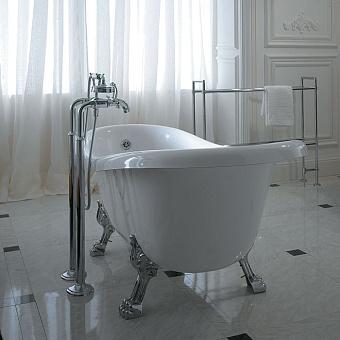 Globo Paestum Ванна 170x80 см белая, хромированные ножки