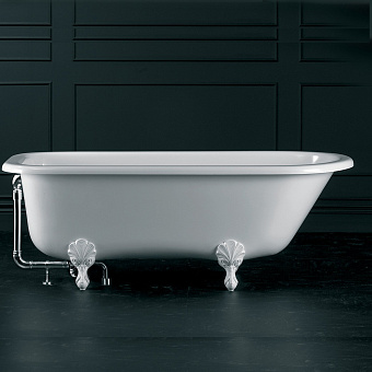 Victoria + Albert Hampshire, Ванна 170х78 см, ножки Quarrycast белые, цвет: белый