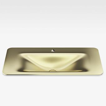 Armani Roca Baia Раковина 90x47 см, 1 отв., встраиваемая сверху, со скр. переливом, цвет: matt gold