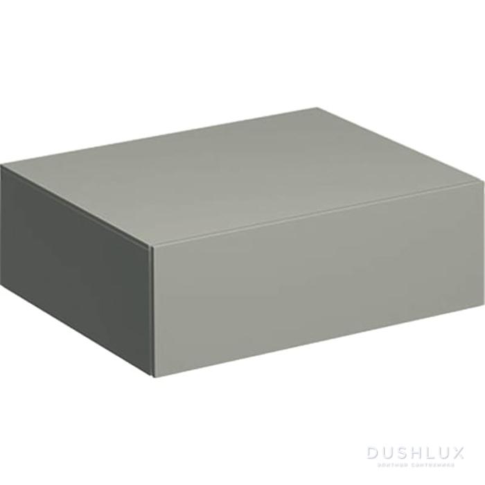Geberit Xeno² Пенал 58х20х46.2см, подвесной, с одним выдвижным ящиком, цвет: серый матовый
