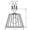 Axor LampShower Верхний душ 1jet с потолочным подсоединением, цвет: хром