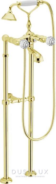 Смеситель для ванны Webert Karenina КА720801 Золото/кристаллы Swarovski