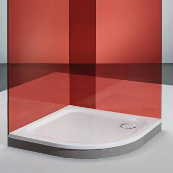 BETTE Душевой поддон полукруглый 100х100хh6,5см, R=500, D=90 мм, анти-слип, самоочищающееся покрытие, цвет: белый