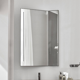 Cielo Arcadia Pan Зеркало со светодиодной подсветкой, цвет: Gloss steel