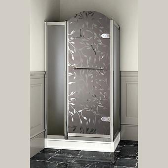 Devon&Devon Savoy Душевое ограждение прямоугольное  Y70 69*109 см, с декоративными элементами,стекло с декором 4T, цвет: хром