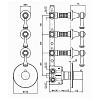 """Zucchetti Agora Classic Встроенный термостатический смеситель, 1/2"""", с 3 запорными клапанами, цвет: хром"""