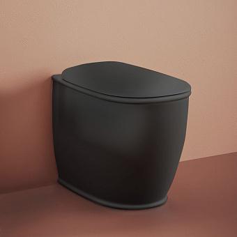 Artceram Atelier Унитаз напольный, 52х37хh42см, безободковый, слив универсальный, с крепежом, цвет: черный матовый