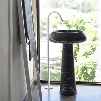 Agape Bjhon 2 Раковина 54.5 см, без отв., выпуск в пол, мрамор Marquinia, цвет: черный