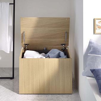 Burgbad Sys30 Шкаф 600х450х460 мм, напольный, на колесиках, крышка, открывающаяся наверх, мешок для белья, цвет: Eiche Dekor Cashmere