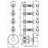 """Zucchetti Agora Classic Встроенный смеситель термостатический, 1/2"""", с 4 запорными клапанами, цвет: хром"""