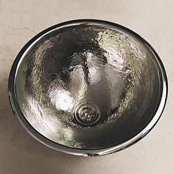 Herbeau Rhone Раковина 46.5 см, без отв., цвет: блестящий отчеканенный никель