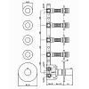 Zucchetti IsyStick Термостатический смеситель, для скрытого монтажа 1/2, 4 ручки, цвет: хром