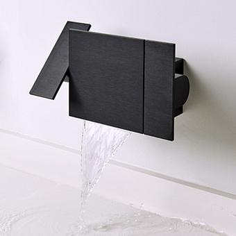 Agape Sen Настенный смеситель для ванны, цвет: черный
