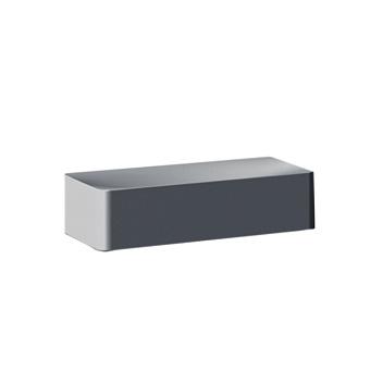 Bertocci Fly Мыльница/контейнер для аксессуаров 14 см из композита, подвесная, цвет: серый