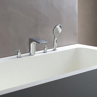 Cristina Bollicine Смеситель на борт ванны с ручным душем, 4 отв., цвет: хром