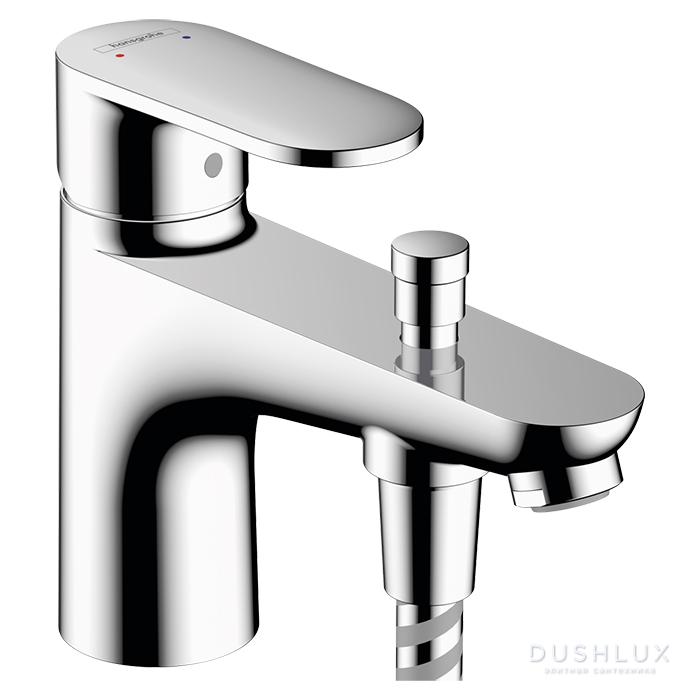 Hansgrohe Vernis Blend Смеситель на борт ванны Monotrou на 1 отв, излив 140мм, с переключателем, цвет: хром