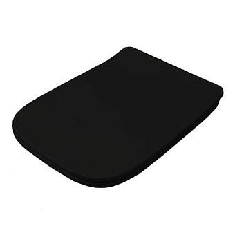 Artceram A16 Сиденье для унитаза с микролифтом, цвет: черный/хром