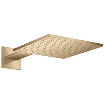 Axor ShowerSolutions Верхний душ, 30x30см, 1jet, с держателем 45см, настенный, цвет: шлифованная бронза