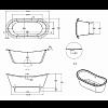 Burlington Ванна акриловая Bateau двусторонняя, 1640x700x722 мм
