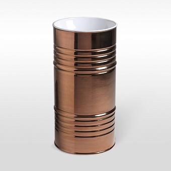 Kerasan Artwork Barrel Раковина 45х90 см, без отв., напольная, слив в пол, в комплекте сифон, цвет: бело-розовое золото