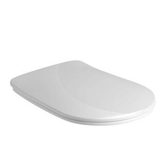 Kerasan Nolita Сиденье для унитаза SLIM быстросъемное, цвет белый глянц, петли хром