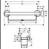 Hansgrohe Unica Comfort Поручень с полочкой и держателем для душа, цвет: хром/белый