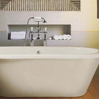 Gentry Home Trend Ванна акриловая 177х81хh62 см, отдельно стоящая, белая, с сливом-переливом (хром)