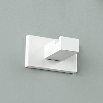 Colombo Look Крючок одинарный, подвесной, цвет: белый матовый