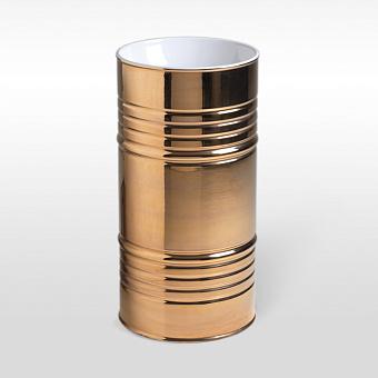 Kerasan Artwork Barrel Раковина 45х90 см, без отв., напольная, слив в пол, в комплекте сифон, цвет: Bianco/oro