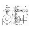 Zucchetti Agora Встроенный термостатический смеситель 1/2, цвет: хром