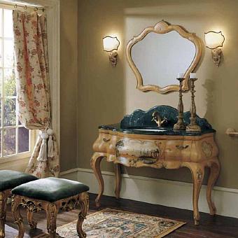 Mobili Di Castello Amalfi 3340/AF Комплект мебели 185х129х59 см, мрамор Verde guatemala/декор Amalfi