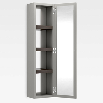 Armani Roca Island Настенный шкаф 30.2х16хh120см, с двумя зеркалами и полочками DX, цвет: silver