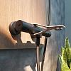 Webert One-B Смеситель для ванны с ручной лейкой, нерж.сталь излив, цвет: нержавеющая сталь/черный