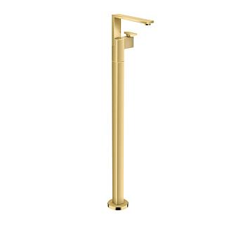 Axor Edge Смеситель для раковины, напольный, с донным клапаном push/open, излив 235мм, алмазная огранка, цвет: золото
