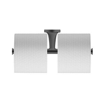 Duravit Starck T Двойной держатель туалетной бумаги, подвесной, цвет: черный матовый