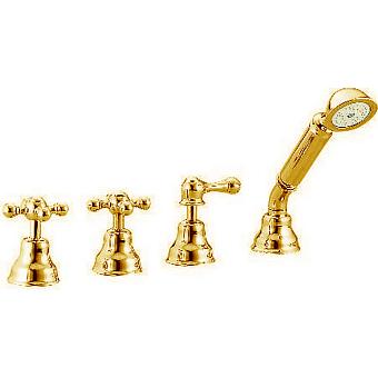 CISAL Arcana Ceramic Смеситель на борт ванны на 4 отверстия, без излива, цвет золото