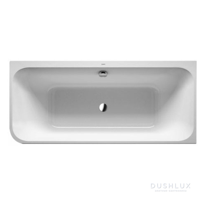 DURAVIT Happy D2 Ванна 1800х800 мм, угол слева  вариант с двумя наклонами для спины, с интегр акрилов панелью и ножками, цвет белыйнаклонами для спины цвет белый