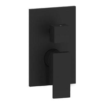 Paffoni Elle Смеситель для душа, встраиваемый, с переключателем потоков с переключателем на 3 потока, цвет: черный матовый