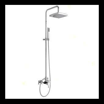 Nicolazzi Doccia Душевая стойка с квадратной лейкой 200 мм, переключателем и ручным душем цвет: хром