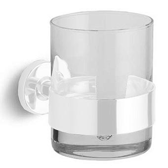 Bertocci Cinquecento Стакан подвесной, цвет: прозрачное стекло/белый матовый