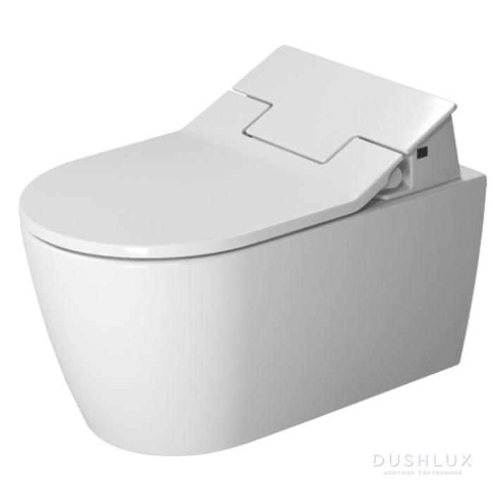 Duravit ME by Starck SensoWash Унитаз подвесной, вкл. крепление Durafix, включая компоненты для SensoWash со скр. подкл, 4,5л, 370x570мм, Цвет: Белый  с сиденьем  SensoWash