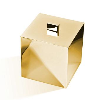 Decor Walther Cube DW 3560 Баночка универсальная 13x13x14.5см, с крышкой, цвет: золото