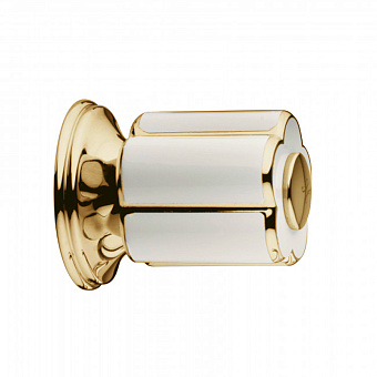 Bongio Fleur Blanc, Кран, цвет: золото/белый фарфор