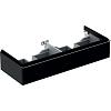 Geberit iCon Тумба с раковиной 119х24х47.7см, с 2 отв., подвесная, с двумя выдвижными ящиками, цвет: темно-серый/матовое покрытие