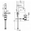 Carlo Frattini Spillo Up Смеситель для раковины, высота 152 мм., излив 117 мм., с донным клапаном, цвет: черный матовый