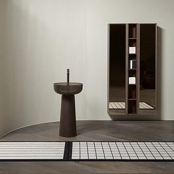 Antonio Lupi Bemade Пенал 175х36х21.6 см, подвесной, 2 дверцы, 5 полок, рама Zirconio, стекло Acidato bronzo, цвет: Rovere thermo