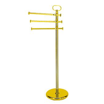 StilHaus Giunone Стойка: 3 полотенцедержателя , напольная, цвет: золото