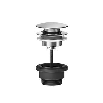 """Gessi 316 Донный клапан для раковины """"Stop&Go"""" , для раковин без перелива, цвет: шлифованная сталь"""