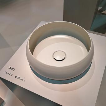 BETTECraft  Раковина-чаша 35х35х12 cм, без отв., на столешницу, круглая, без перелива, цвет: флинт 414